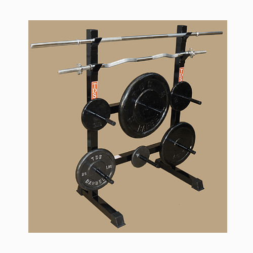FRONT LOADING RACK SYSTEM FOR STANDARD PLATES & BARS