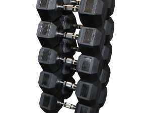 55 to 75 Rubber Dumbbell Set